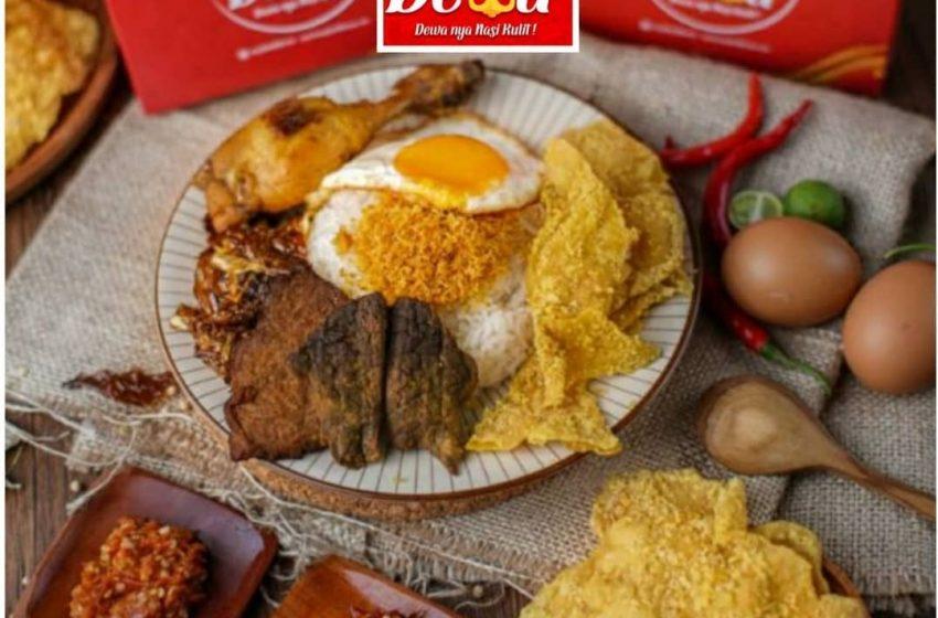 Nasi Kulit Dewa: Olahan Kulit Ayam Crispy dengan Berbagai Pilihan Topping dan Menu